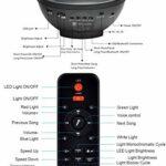 Projecteur de lumière étoilée , projecteur de brouillard rotatif à,veilleuse vague d'océan, lampe à changement de couleur, lampe avec Bluetooth/haut-parleur musique/minuterie/télécommande pour scène