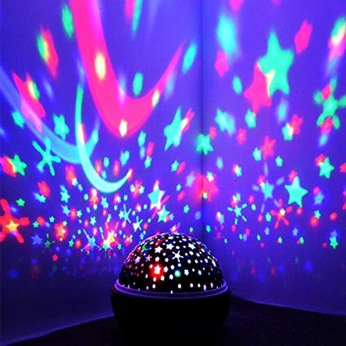 CHSYWH Projecteur de veilleuse rotative, veilleuse de Projection à LED de Sommeil Romantique pour Enfants de Ciel étoilé Rotatif, lumière de Projection de rêve