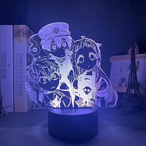 Hanako ZMSY Lampe de nuit 3D Anime Illusion Lampe de Manga Toilettes Liée Hanako LED Veilleuse pour Chambre Décoration de Nuit Colorée Ciel de Nuit Anime Cadeau Acrylique 3D Lampe Hanako ZMSY