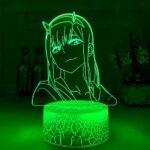 Lampe de nuit 3D Illusion Lampe Anime 3D Lampe Zero Deux Figurines Veilleuse Enfant Fille Chambre Décor Lumière Manga Cadeau Veilleuse Lampe Chérie dans Franxx ZMSY
