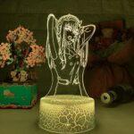 Lampe de nuit 3D Illusion Lampe d'Illusion Japonais Anime 3D Lampe Beauté Figurine Acrylique Veilleuse Enfant Fille Chambre Décor Light Manga Cadeaux Veilleuses ZMSY