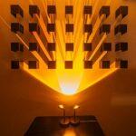 OLMME Lampe de Projecteur de Nuit Sunset Night, Lampe de Projection USB, Lampe D'atmosphère de Projecteur Arc-en-Ciel, Lampe de Projecteur Moderne Lampe de Plancher de Sol(Color:Le Coucher du Soleil)