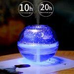 ZHNA-veilleuse Projecteur Night Light Humidificateur, Timed Chambre Sleep Light, Design de réduction du Bruit (Color : Silver)