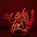 Lampe Illusion 3D LED veilleuse Anna Kristoff Olaf pour enfants dessin animé chambre lampe de Table décorative cadeaux de noël
