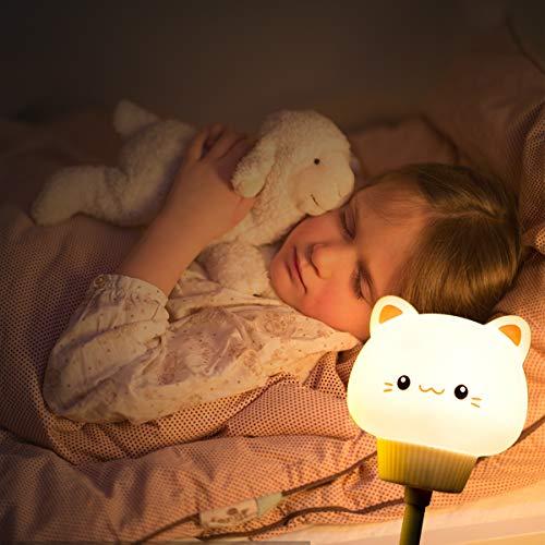 Veilleuse Led, Lampe de Chevet,Veilleuse en silicone,Veilleuse LED pour enfants,lampe de chevet,Commande Tactile Dimmable,Convient aux chambres à coucher, aux chambres d'enfants et aux salons.