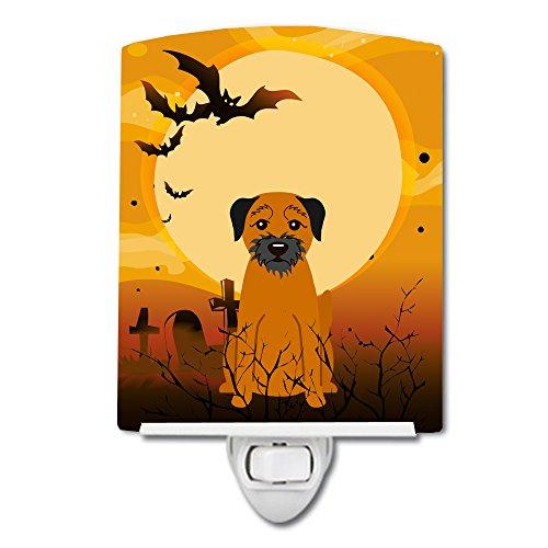 Caroline's Treasures Veilleuse en céramique Motif Border Terrier Multicolore 15,2 x 10,2 cm