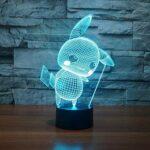 GEZHF 3D LED Pokemon Go Pikachu Veilleuse Lampe Nuit Lumières Méga Touch Lampe de Table 7 Couleurs RGB pour Enfants Cadeau Jouets Décoration
