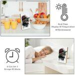 Réveil numérique à LED – Veilleuse tamisée – Réveil de bureau pour chambre à coucher – Motif chat