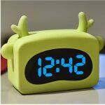 RUCC Réveil Mignon LED Mode créative électronique Lumineux lit Silencieux Simple 140MM * 137MM