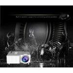 Mini Projecteur 1080P projecteur portable avec 20 000 heures LED vie de la lampe, Maison et extérieur Projecteur Compatible (Color : White)