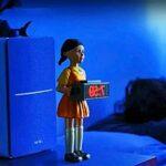Calmar Jeu Réveil Musique Réveil en Bois Poupée Femme Réveil 123 Horloge en Bois Horreur Son Chambre Électronique en Bois Homme Alarme Objets De Collection Jouet Cadeau