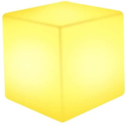 Party LED Tabouret Carré Lumineux Jardin Lumière Extérieure Veilleuse Intérieure 4 Pouces RVB 16 Couleurs Cool Cube Cosmique Lumière Avec Télécommande Lumière D'ambiance, IP65 Étanche,60cm/23.6 inch