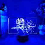 Veilleuse 3D Feitan de Anime Hunter x Hunter – Figurine de nuit – Cool Manga Art 3D – Creative Desk Lamp Friends – Cadeau d'anniversaire – Cadeaux pour les enfants