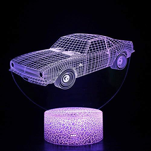 Veilleuse LED magique 3D pour voiture, télécommande à changement de couleur – Cadeau créatif pour enfants