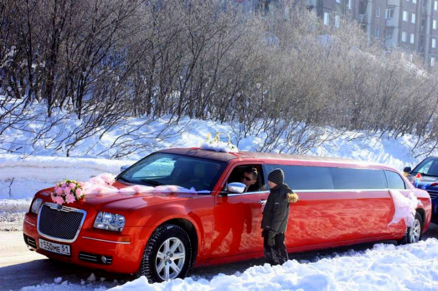 White winter Russian wedding