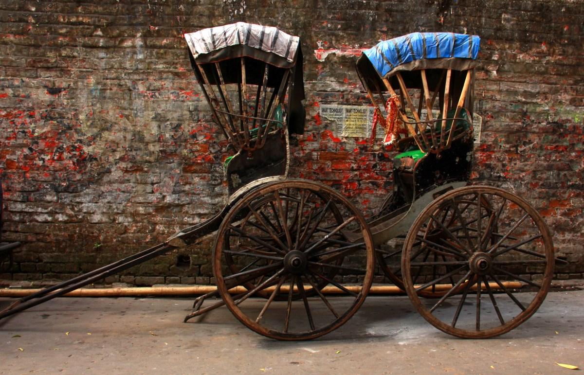 hand pulled rickshaws are quintessentially calcutta