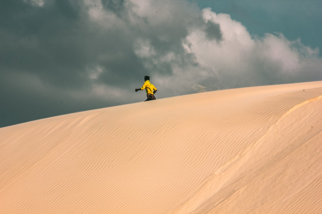 The sand dunes of Omak of Socotra