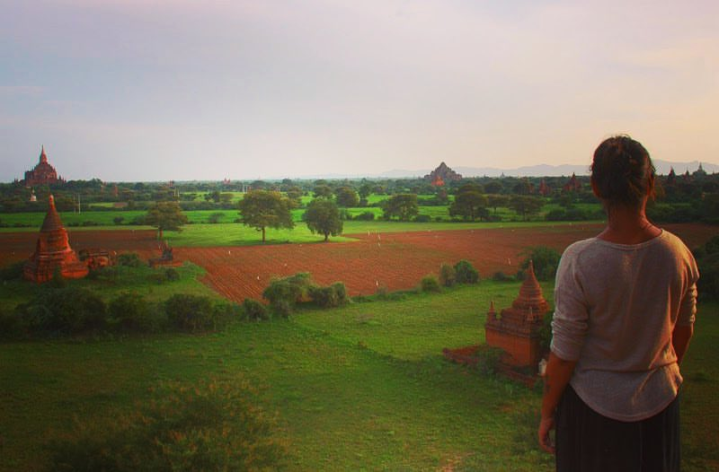 Bagan is beautiful during sunsets