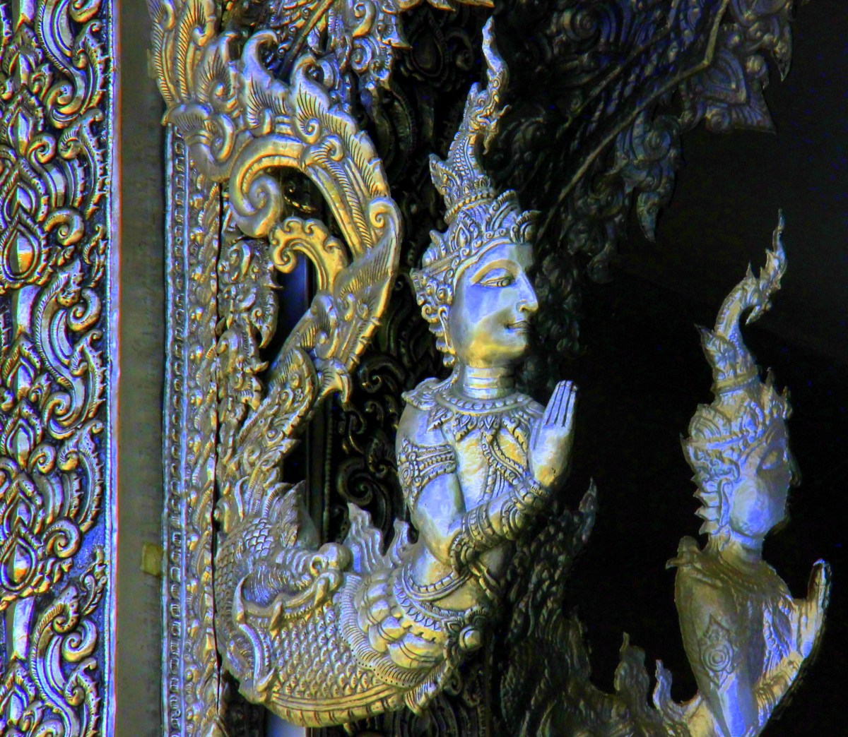 silver work on the chiang mai temples