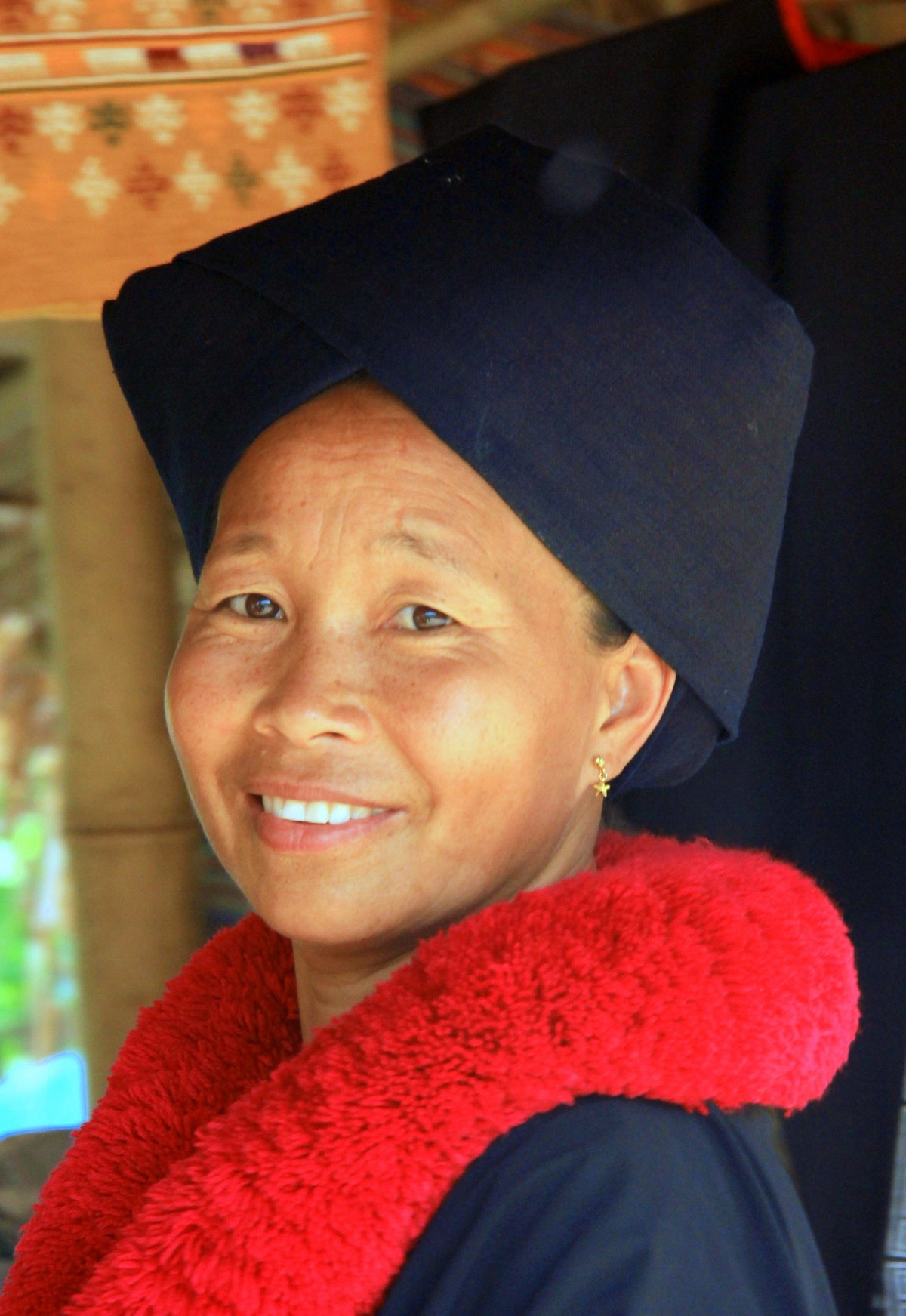 A Black Hmong lady, one of the Thai hill tribes