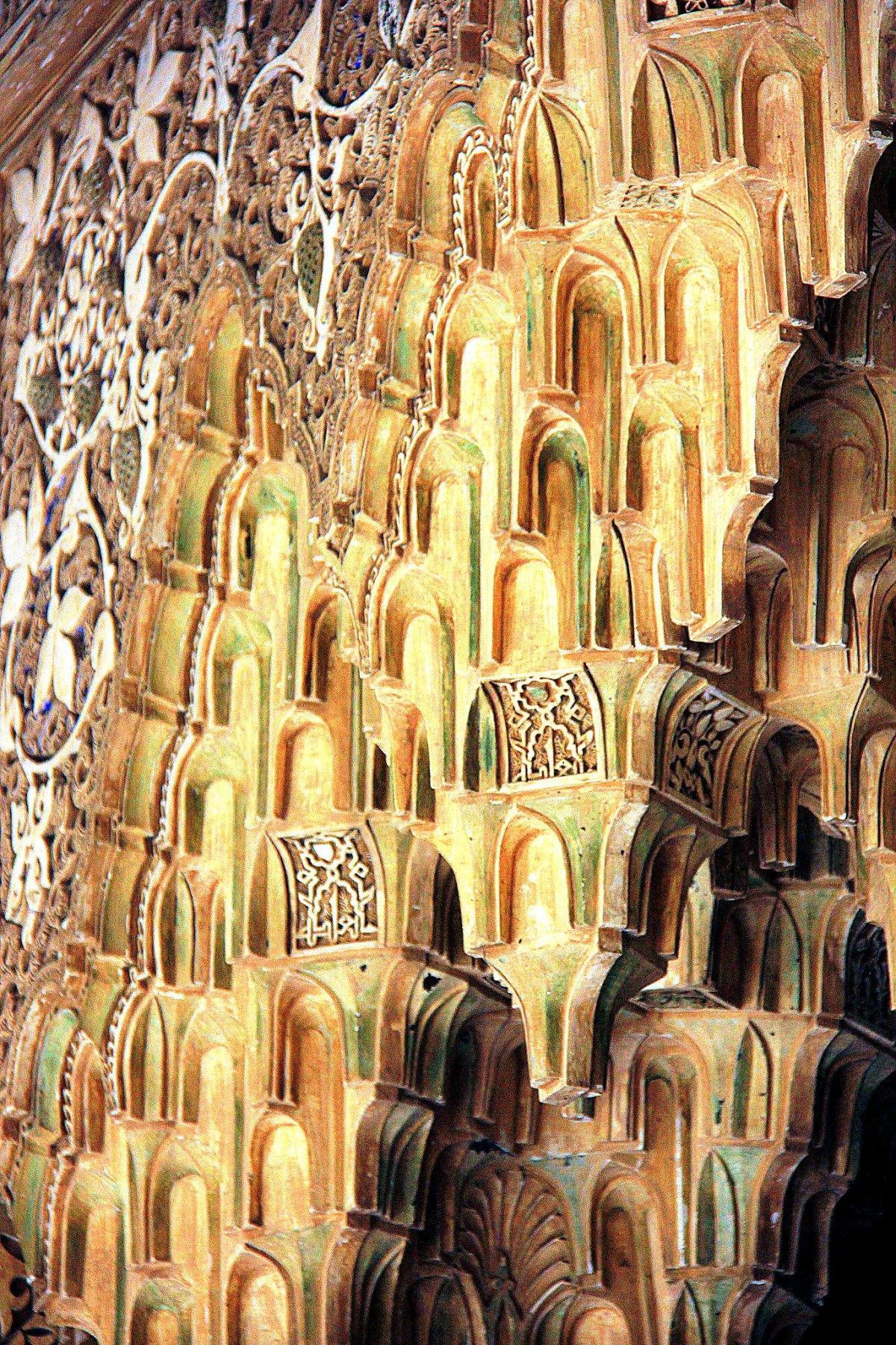 Detailed mocarabe work at Nasrid Palaces