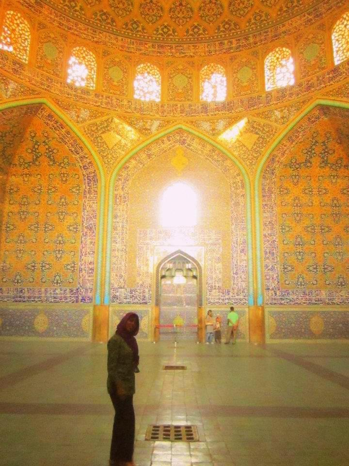 Under the Peacock Dome of Sheikh Lotfollah Mosque in Esfahan