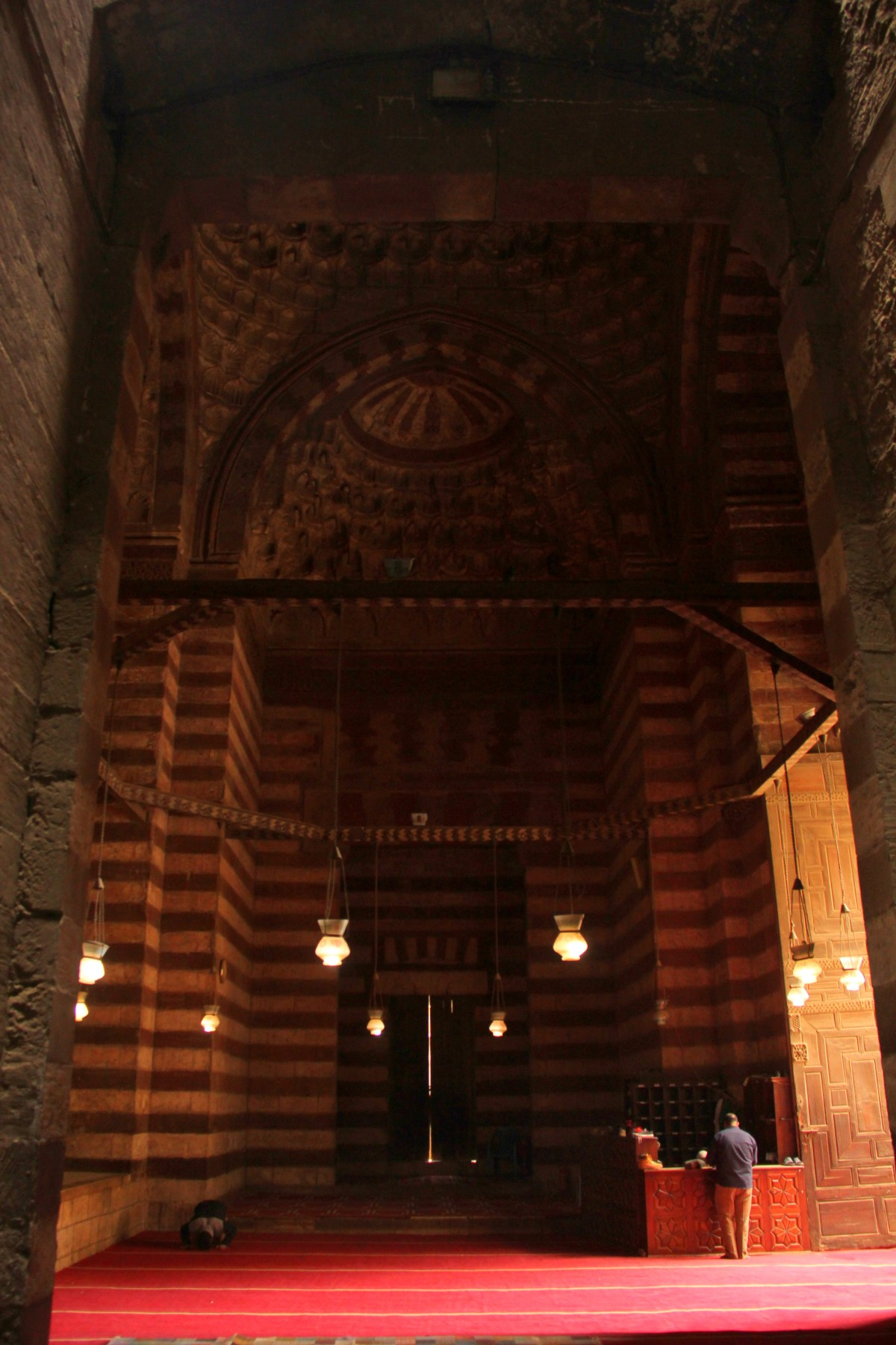 entrance portal of sultan hassan mosque madrassa