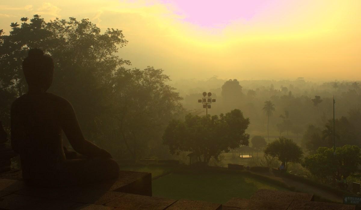 A Buddha overlooks the Kedu Plain