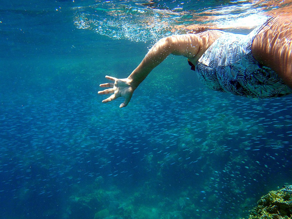The clear water of Marsa Alam