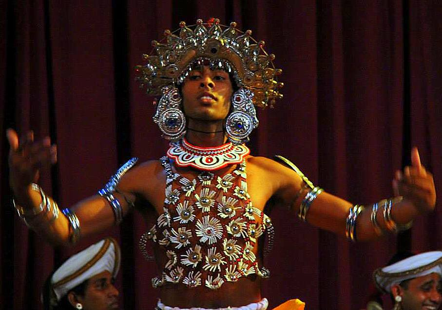 a dancer in a dambana resort
