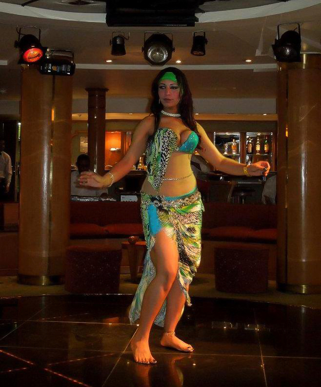 Belly dancing onboard a Nile cruise