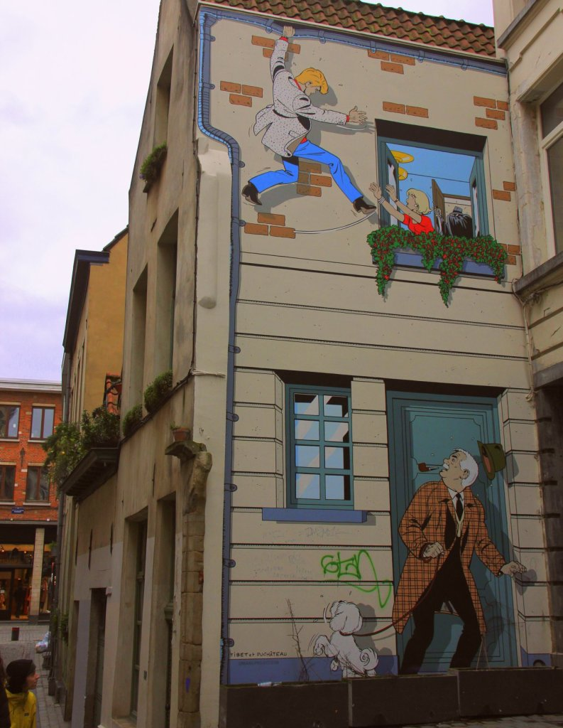 ric hochet mural is the best brussels street art