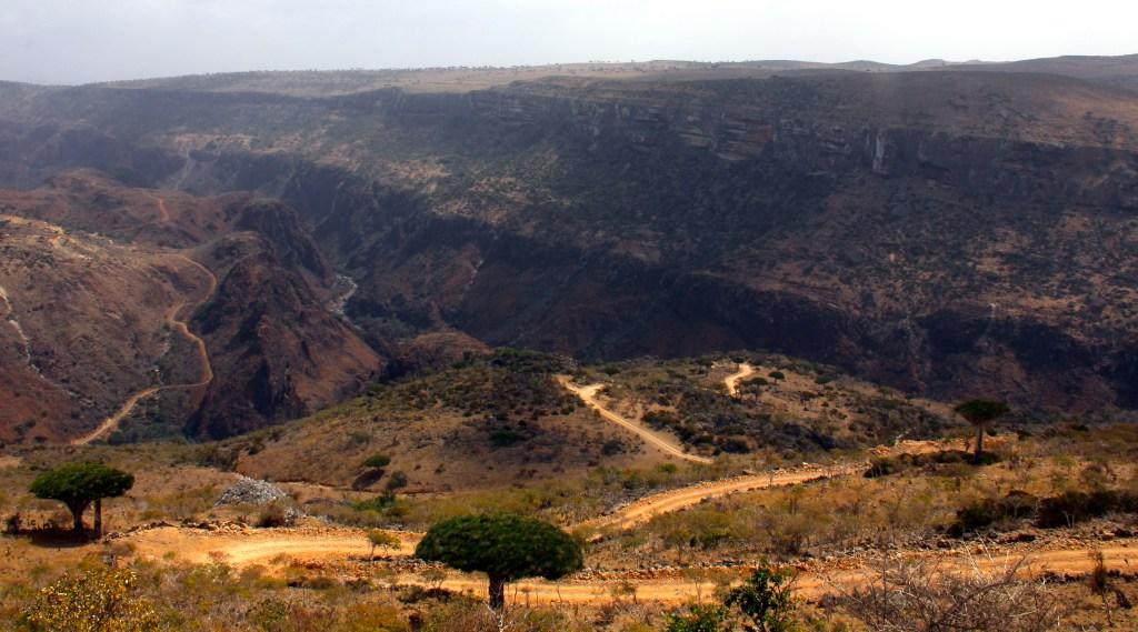 The drive to Diksam Plateau