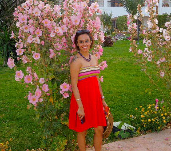 The manicured grounds of Dana Beach Resort in Hurghada