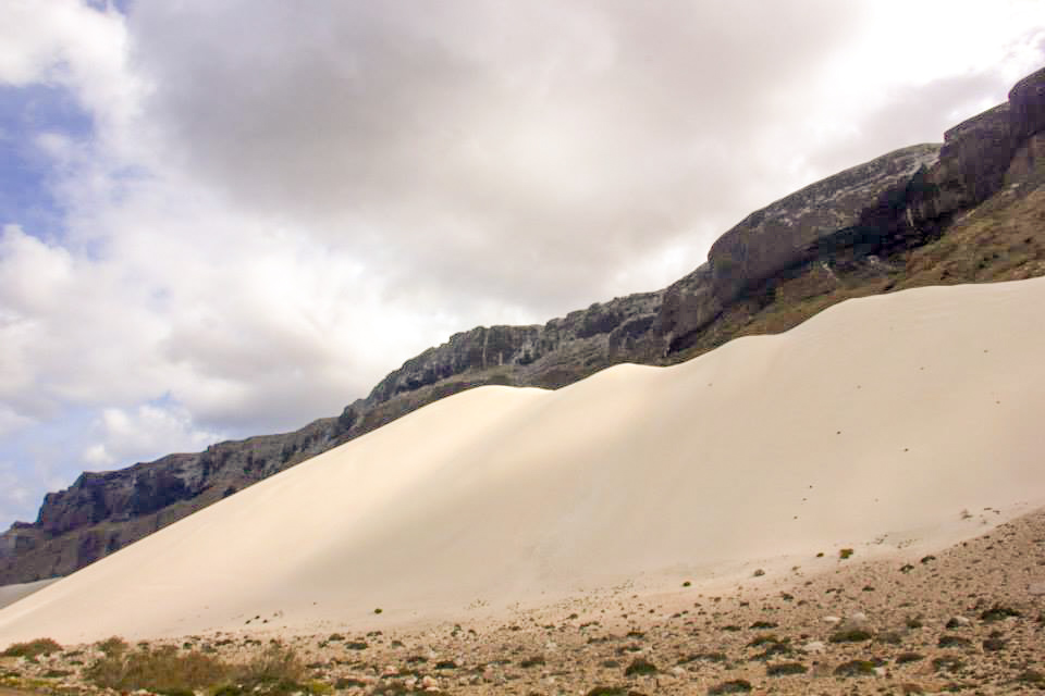 The massive sand dunes of Arhar Beach of Socotra Yemen