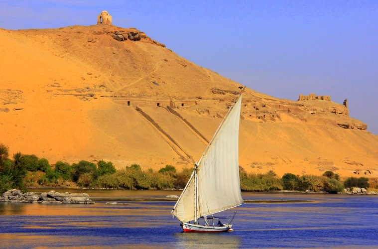felucca seen during a Nile cruise