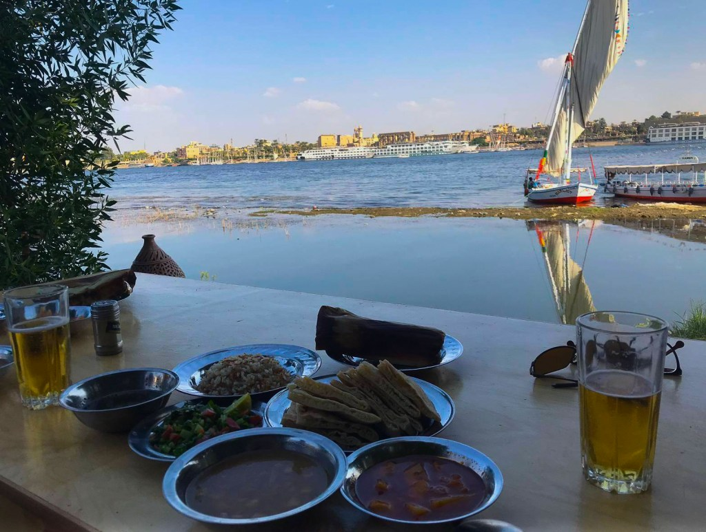 Breakfast by the Nile in Upper Egypt