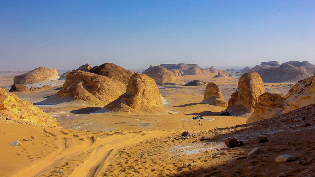 The famous lookout or Agbat near Black Desert in Egypt