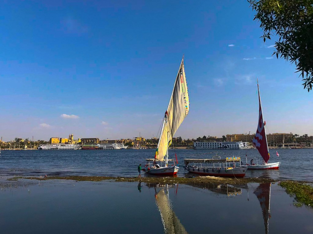 A felucca ride over to Luxor West Bank