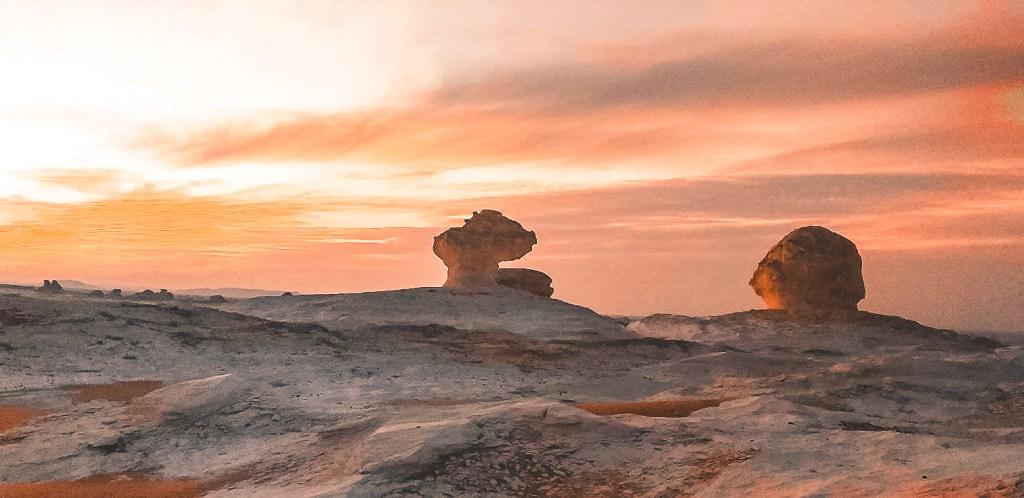 Sunrise of the softest hue over the White Desert
