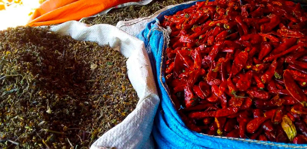 Spices for sale at the Addis mercato