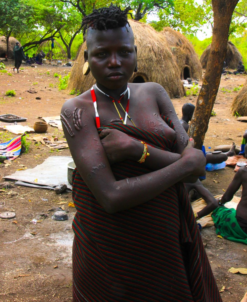 a mursi woman in ethiopia's omo valley