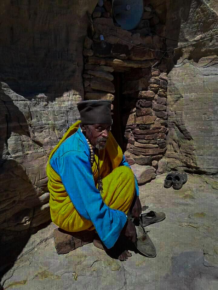 a priest of tigray rock-cut churches