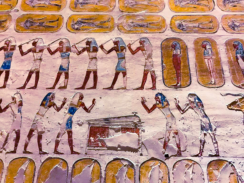 Chapter 17 from the Book of the Dead as depicted inside the tomb of Nefertari