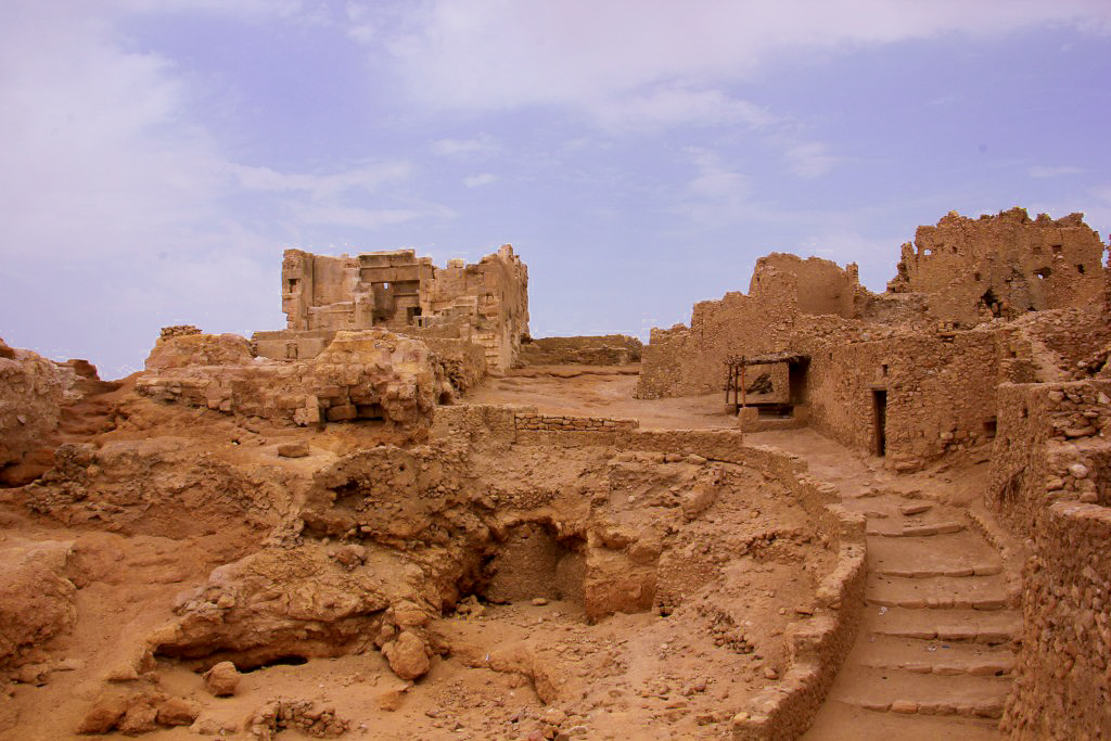 Ruins of the temple of Amun at Siwa Oasis