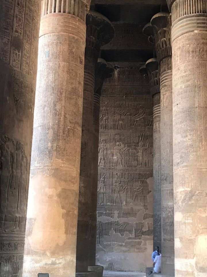 Columns inside the Temple of Khnum in Upper Egypt