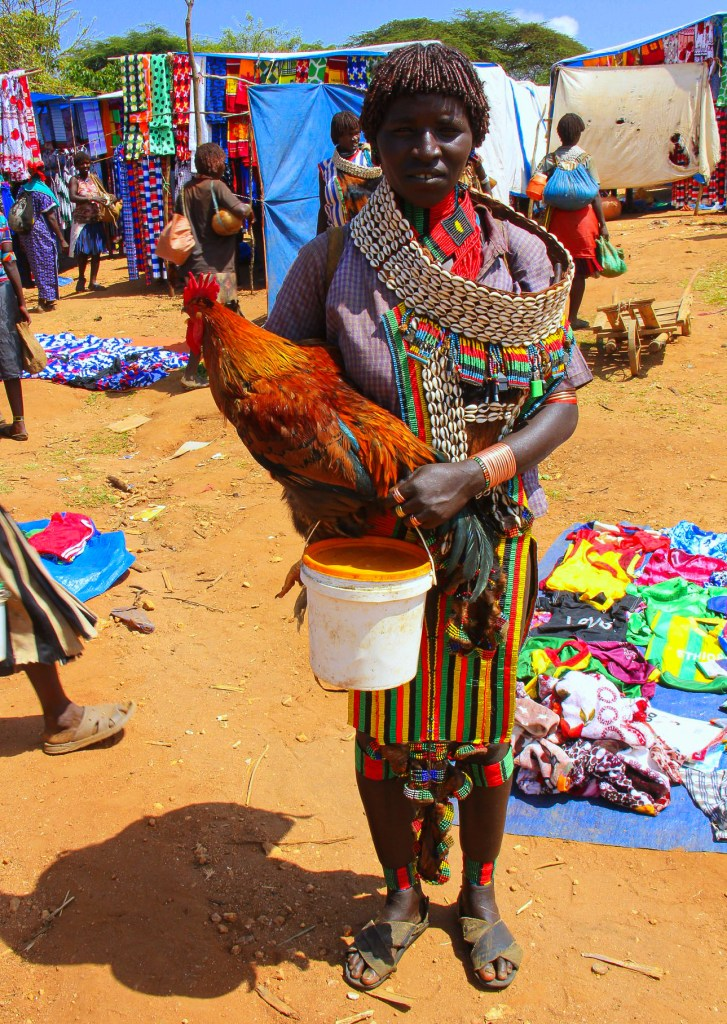 A Hamar lady shopping at Omo Valley seen during my Ethiopia trip