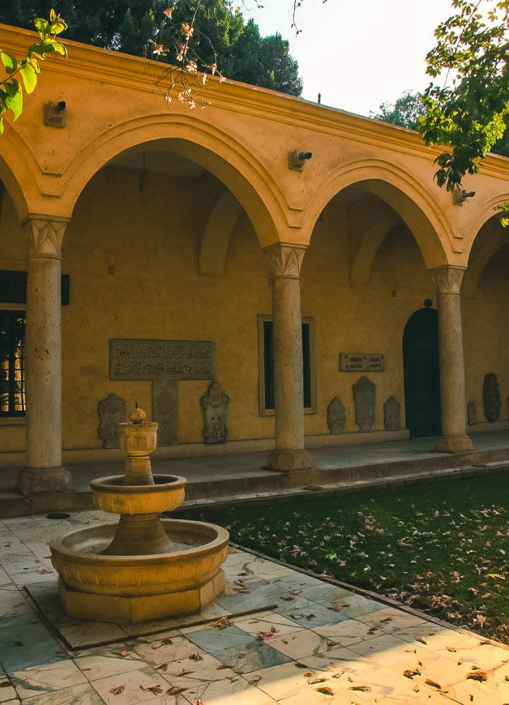 The inner courtyard at Manial Palace