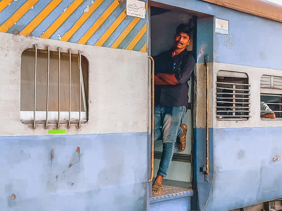 Indian railway at Ernakulam Junction in Kochi