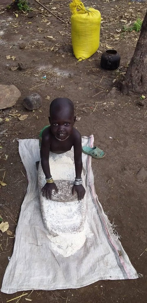 one of the omo valley tribes baby